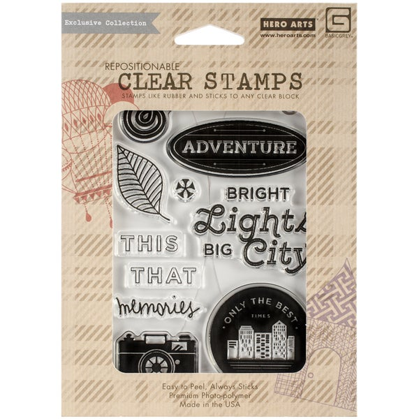 Basic Grey Second City Clear Stamps By Hero Arts-Bright Lights