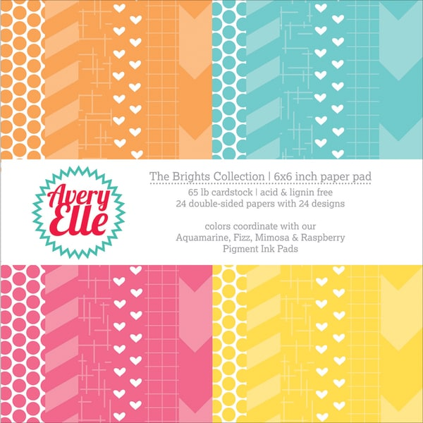 "Avery Elle Double-Side Paper Pad 6""X6"" 24/Sheets-Brights"