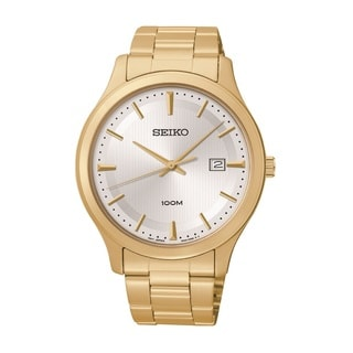 Seiko Men's SUR054 Stainless Steel Gold Tone Watch