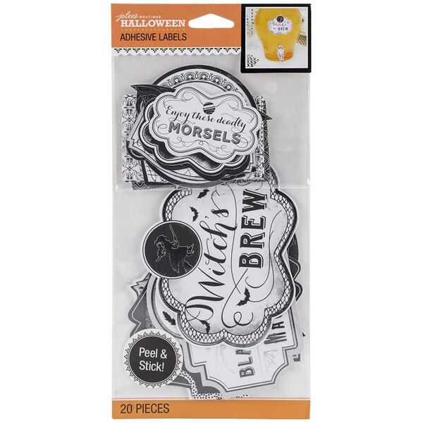 Jolee's Halloween Adhesive Label Pack 20/Pkg-Black & White