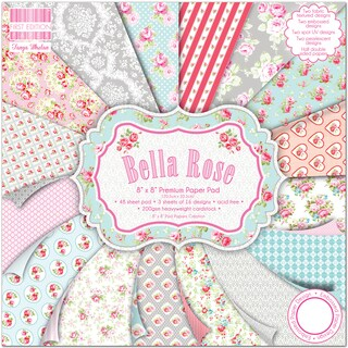 "First Edition Premium Paper Pad 8""X8"" 48/Pkg-Bella Rose"