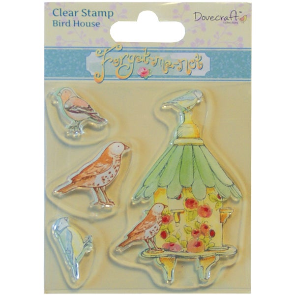 Forget-Me-Not Clear Stamp-Birdhouse