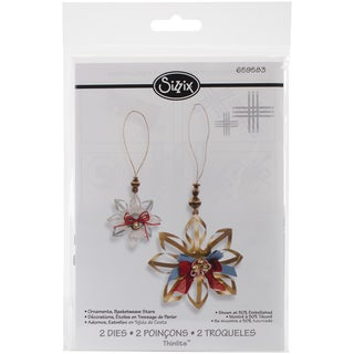 Sizzix Thinlits Dies 2/Pkg-Basketweave Star Ornaments