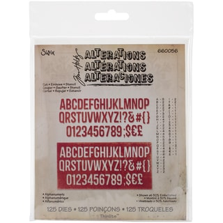 Sizzix Thinlits Dies 125/Pkg By Tim Holtz-Alphanumberic