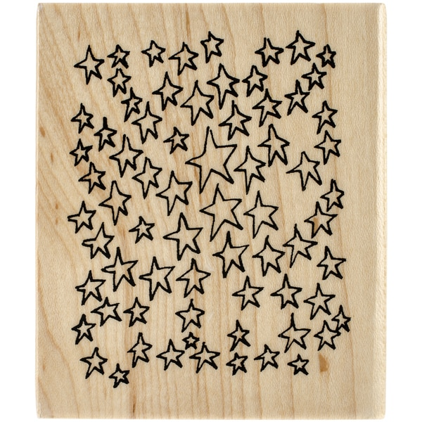 Dyan Reaveley's Dylusions Mounted Stamp-Amongst The Stars