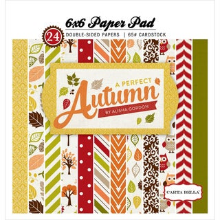 "Carta Bella Double-Sided Paper Pad 6""X6"" 24/Pkg-A Perfect Autumn"