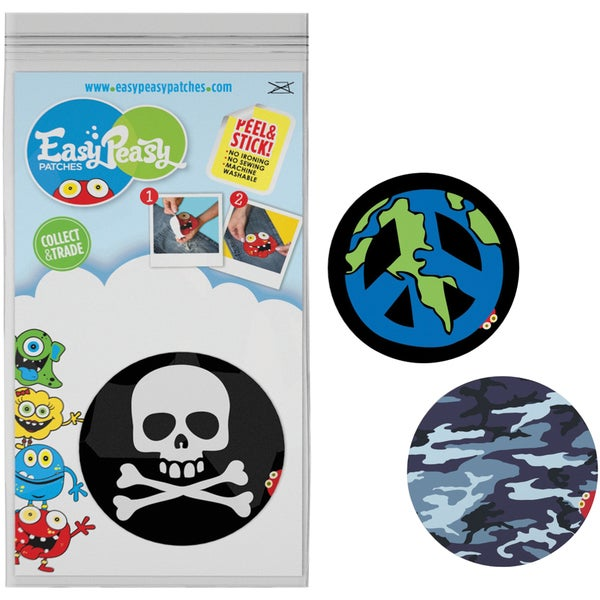 Easy Peasy Permanent Patches 3/Pkg-Adventure - Arghh, Peace & Camo