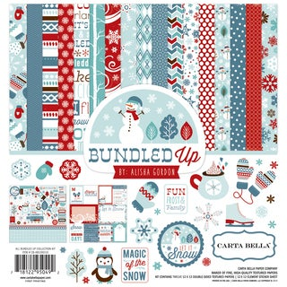 "Carta Bella Collection Kit 12""X12""-All Bundled Up"