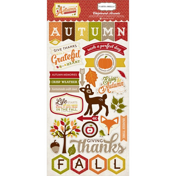 A Perfect Autumn Chipboard 6X12in