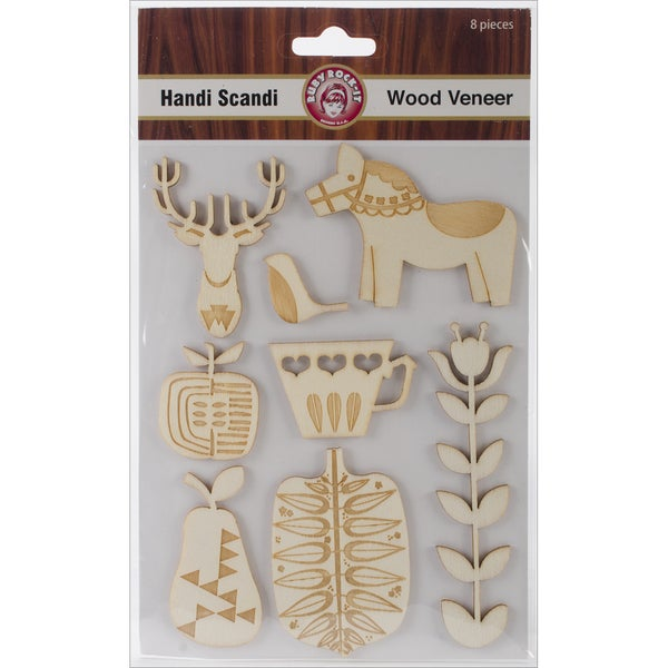 Handi Scandi Wood Veneer Shapes 8/Pkg