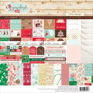Gingerbread Village Card Kit 8inX8in