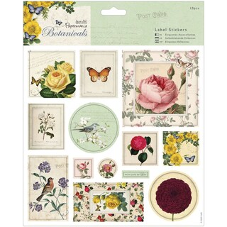 Papermania Botanicals Label Stickers 8inX8in