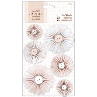 Papermania Oyster Blush Pinwheels 6/Pkg