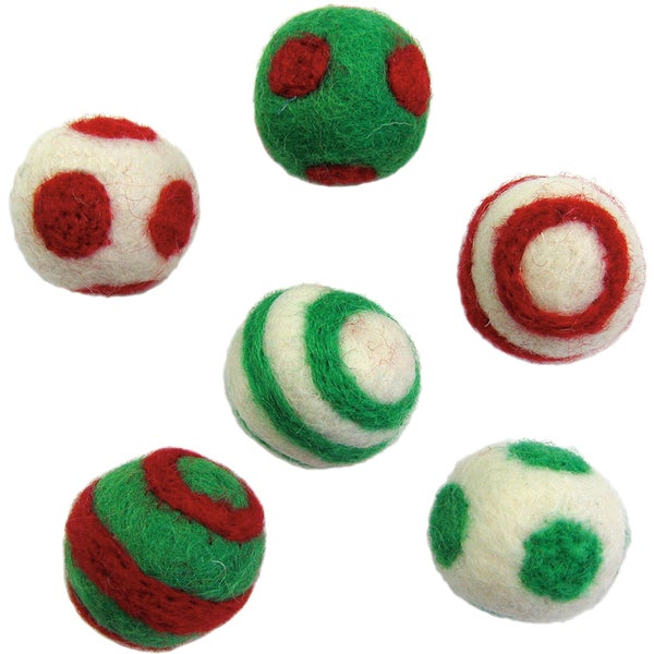 Feltworks Holiday Balls-6/Pkg