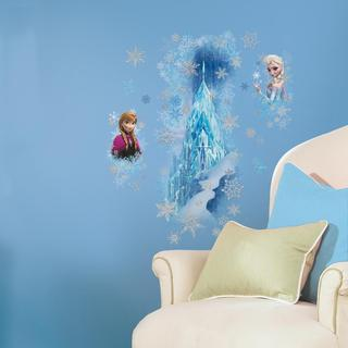 Frozen Ice Palace with Else and Anna Peel and Stick Giant Wall Decals