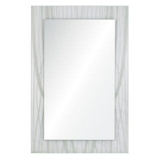 Air Silk Screen Printed Glass Mirror