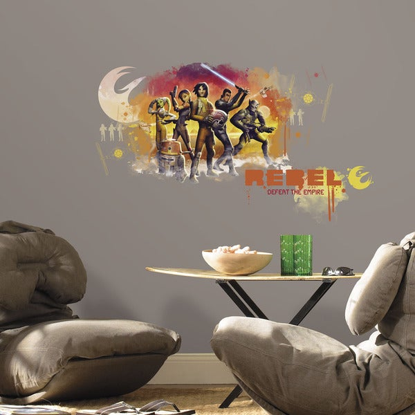 Star Wars Rebels Watercolor Peel and Stick Giant Wall Graphix