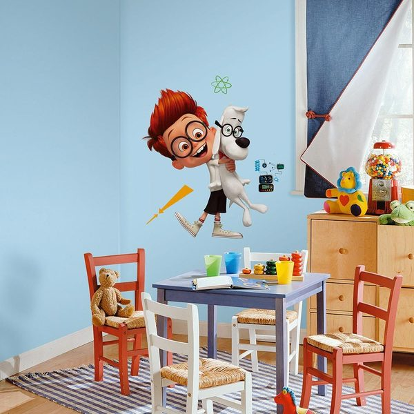 Mr. Peabody & Sherman Peel and Stick Giant Wall Decals