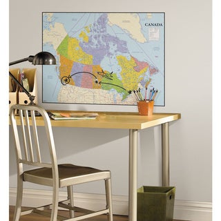 Canada Map Peel and Stick Dry Erase Giant Wall Decals