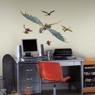 How to Train Your Dragon 2 Astrid & Stormfly Peel and Stick Giant Wall Decals