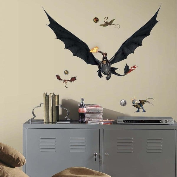 How to Train Your Dragon 2 Hiccup & Toothless Peel and Stick Giant Wall Decals