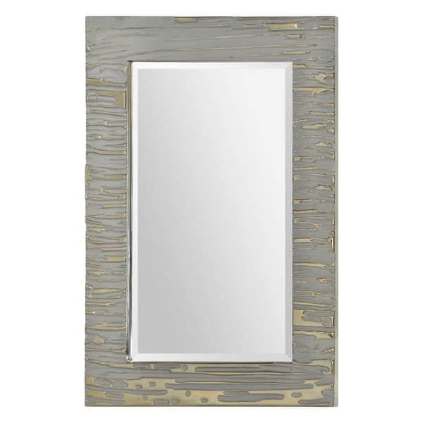 Foxtrot Silver Paint Mirror