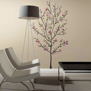 Pink Blossom Tree Peel and Stick Giant Wall Decals