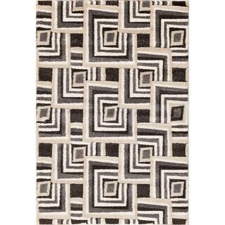 Christopher Knight Home Medina Chroma Connor Black/ Silver Area Rug (5' x 7'6)