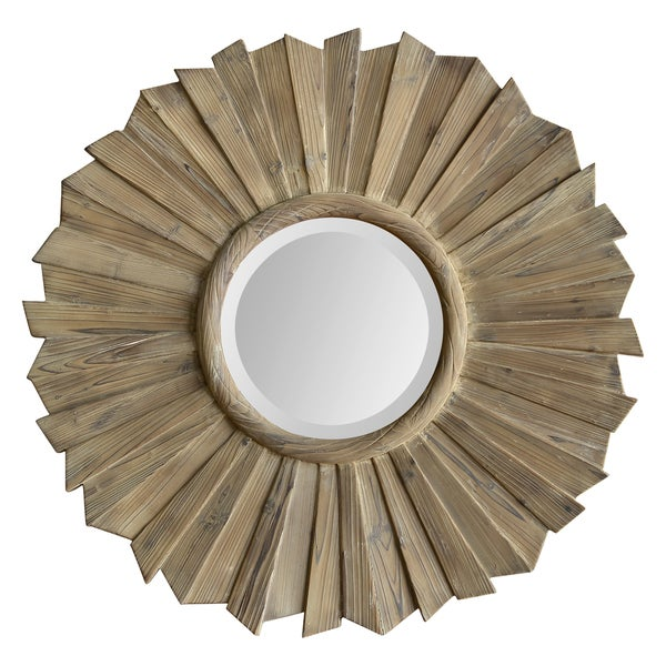 Kendra Washed Wood Mirror
