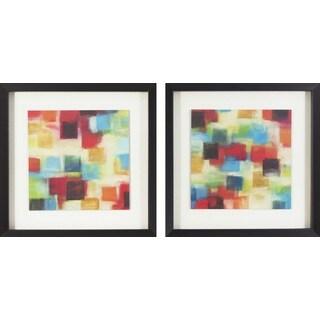 Abstract Kaleidoscope Framed Print Art (Set of 2)