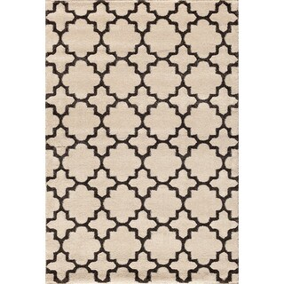 Christopher Knight Home Medina Chroma Holden Pearl/ Black Area Rug (7'10 x 9'10)