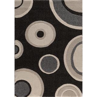 Christopher Knight Home Medina Chroma Pure Black/ Pearl Area Rug (7'10 x 9'10)