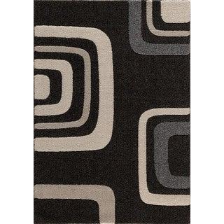 Christopher Knight Home Medina Chroma Quiet Black/ Pearl Area Rug (7'10 x 9'10)