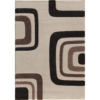 Christopher Knight Home Medina Chroma Quiet Pearl/ Brown Area Rug (7'10 x 9'10)