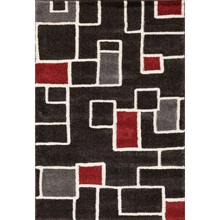 Christopher Knight Home Medina Chroma Ryder Black/ Red Area Rug (7'10 x 9'10)