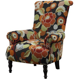 Emerald Black Multi Colored Accent Chair Overstock Shopping Great Deals On Living Room Chairs
