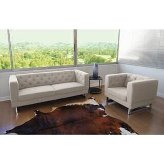 DG Casa Cream Allegro Sofa and Chair Set