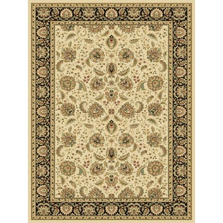 Somette Radiance Mediterranean Arcadia Wheat/ Black Area Rug (5'3 x 7'7)