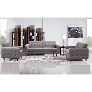 DG Casa Taupe Grey Benjamin Sofa, Loveseat and Chair Set