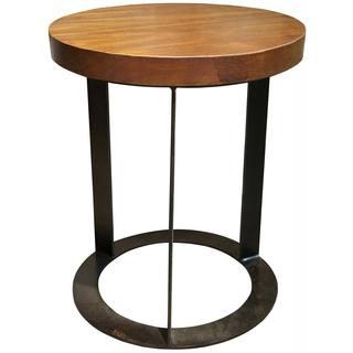 Modern Circle Base Wood/ Iron Table