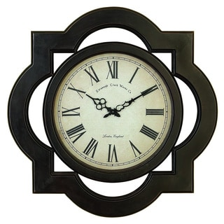 Uniquely Scalloped Wood Wall Clock