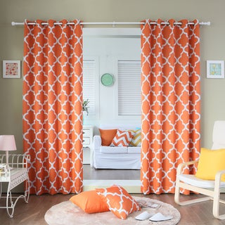 Moroccan Tile 96 Inch Window Curtain Pair Overstock Shopping Great Deals On Lights Out Curtains