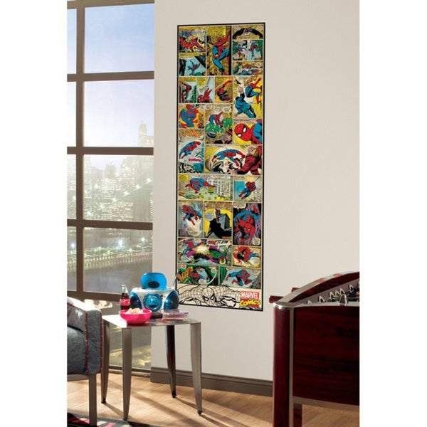 Marvel Comic Panel - Spiderman Classic Peel and Stick Giant Wall Decal 14150779