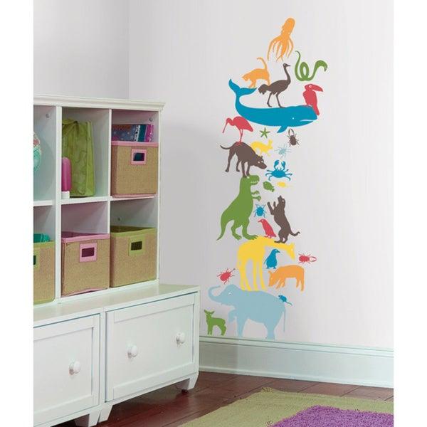 Kids Lab - Animal Tower Giant Wall Decal