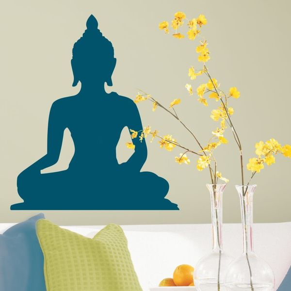 Indian Buddah Peel & Stick Giant Wall Decals