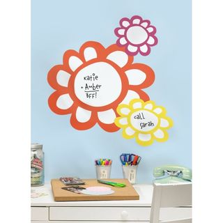 Flowers Dry Erase Peel & Stick Giant Wall Decals