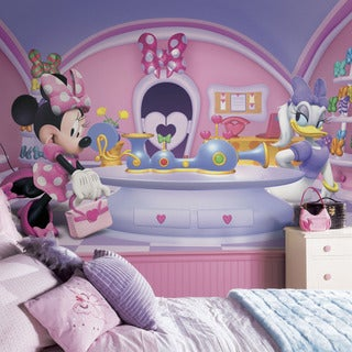 Minnie Fashionista Mural 6' x 10.5' - Ultra-strippable