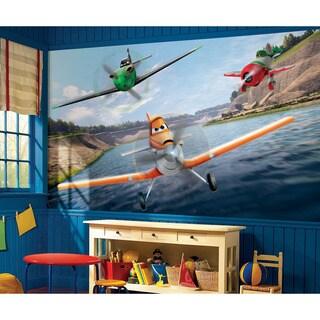 Disney Planes XL Chair Rail Prepasted Mural 6' x 10.5' - Ultra-strippable