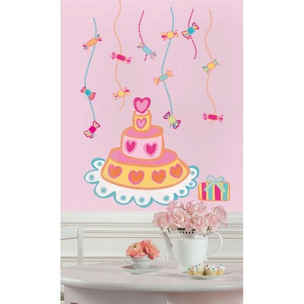 Birthday Cake Peel & Stick Giant Wall Decals