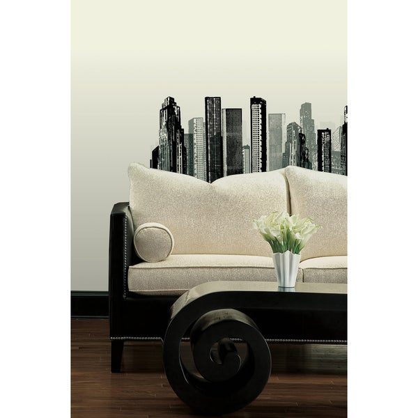 Cityscape Peel & Stick Giant Wall Decal 14150898